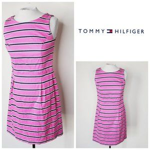 TOMMY HILFIGER Striped Marina A-Line Pink Dress